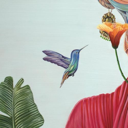"Title: ""Frida, Germination"" (Frida Kahlo)Technique: Oil on canvasSize: 170×130Aref Niazi, 2018"
